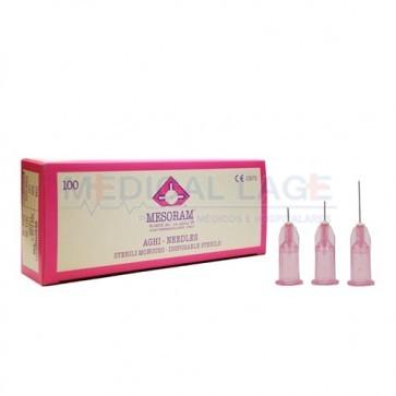 Agulha para mesoterapia 32G - 0,23 x 4mm - Mesoram - Pacote com 10 uni