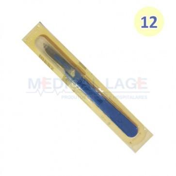 Bisturi com cabo e lâmina 12 Index Sterilance