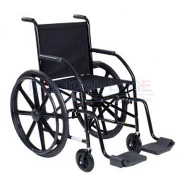Cadeira de rodas preta roda em nylon modelo 101 - CDS