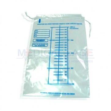 Coletor de urina tipo saco 2L - Medsonda - c/ 100