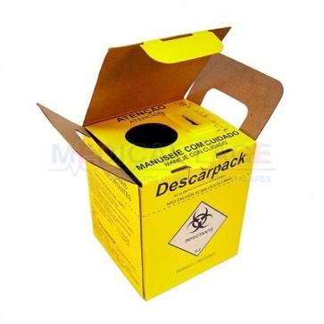 Coletor Perfuro Cortante 1,5L - Amarelo - Descarpack