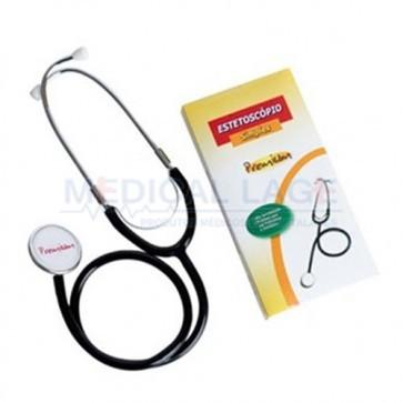 Estetoscópio adulto simples preto - Premium - Unidade