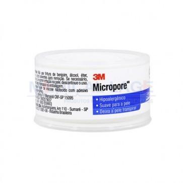 Fita Micropore - 25mmx10m - Com capa  - Branca - 3M