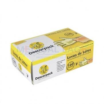 Luva Látex para Procedimento P - Talcada - Descarpack - c/ 100 Un.