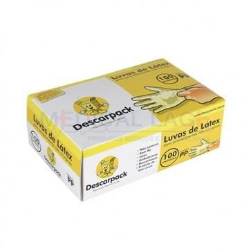 Luva Látex para Procedimento PP - Talcada - Descarpack - c/ 100 Un.