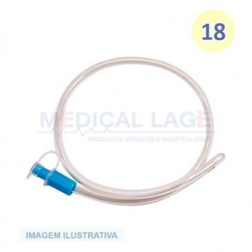 Sonda Retal Plástica n 18 PVC - Medsonda - Pacote com 10