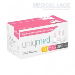 Agulha para caneta - Insulina - 0,33x12,7mm - (29G) - Uniqmed - Caixa com 100