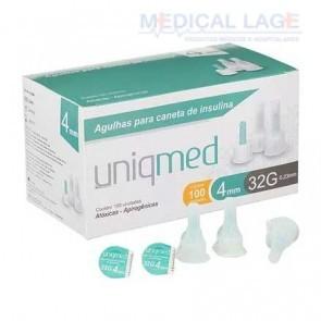 Agulha para caneta - Insulina - 0,23x4mm - (32G) - Uniqmed - Caixa com 100