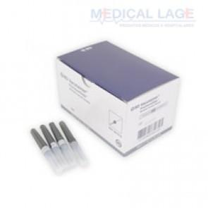 Agulha para coleta de sangue a vacuo - 25x7 (Preta) - BD Ref. 360210 - Caixa com 100