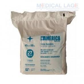 Campo Operatório Nao estéril 45x50 Leve 25gr - America Medical - Pct com 50
