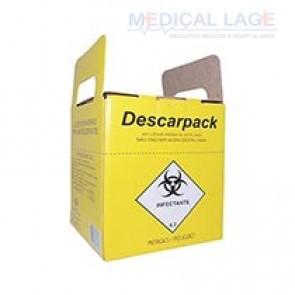 Coletor Perfuro Cortante 20L - Amarelo - Descarpack