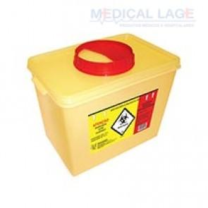 Coletor plástico rigido para perfurocortantes amarelo 7L - Descarpack