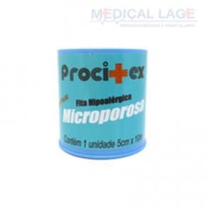 Fita Micropore - 50mmx10m - Com capa - Branca - Procitex