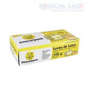 Luva Látex para Procedimento G - Talcada - Descarpack - c/ 100 Un.
