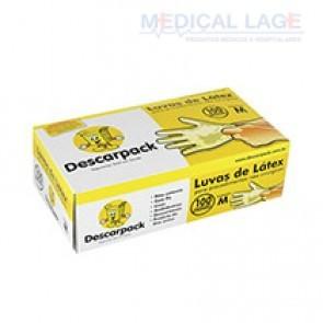 Luva Látex para Procedimento M - Talcada - Descarpack - c/ 100 Un.