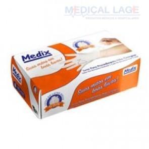 Luva Látex para Procedimento P - Talcada - Medix - c/ 100 Un.