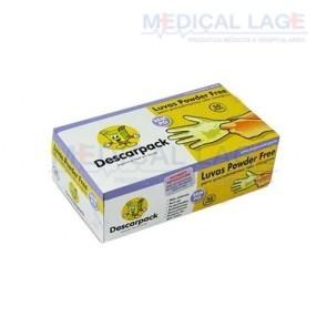 Luva Látex Powder Free G - Descarpack - c/ 100 Un.