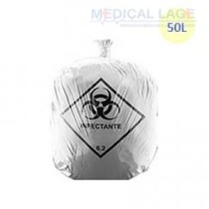 Saco de Lixo Hospitalar Branco 50L - Jurema - c/ 100 Un.