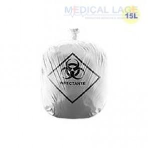 Saco de Lixo Hospitalar Branco 15L - Rava - c/ 100 Un.