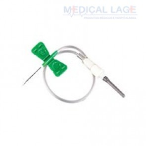SCALP à Vácuo para Coleta - 21G (Verde) - Vacuplast - Caixa com 50