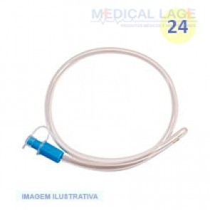 Sonda Retal Plástica n 24 PVC - Medsonda - Pacote com 10