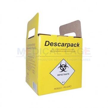 Coletor Perfuro Cortante 07L - Amarelo - Descarpack
