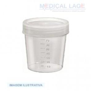 Coletor universal 80 ml não esteril - Graduado - Nalgon