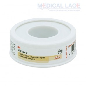 Fita Micropore - 12,5mmx10m - com capa - Bege - (Cor da pele) - 3M