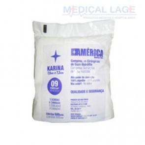 Gaze não estéril 9F - América Karina - Pacote com 500 uni