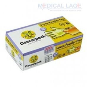 Luva Látex Powder Free M - Descarpack - c/ 100 Un.