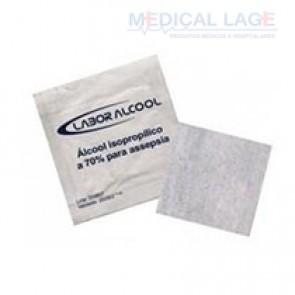 Saches Gaze - Alcool Swab - LaborImport - Caixa com 200