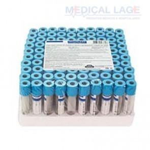 Tubo para coleta de sangue a vacuo 3,6ml - Citrato de Sodio - Azul - Vacuplast - Pct com 100