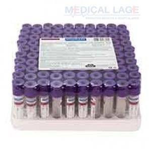 Tubo para coleta de sangue a vacuo 4ml - K3 EDTA - Roxo - Vacuplast - Pct com 100